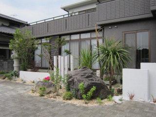 坂東市 オープン外構と庭