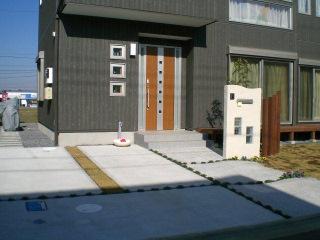 常総市 A様邸のシンプルモダンのオープン外構