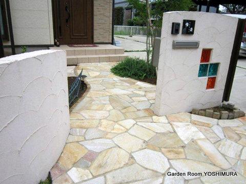 かすみがうら市 パーゴラとテラスのある庭の施工例