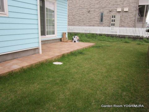 牛久市 K様邸 芝生から手入れの楽な庭へリニューアル