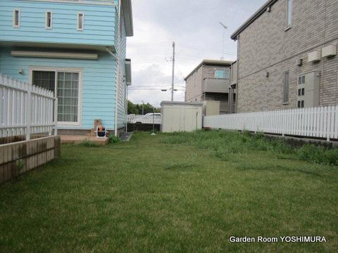 芝生から手入れの楽な庭へリニューアル