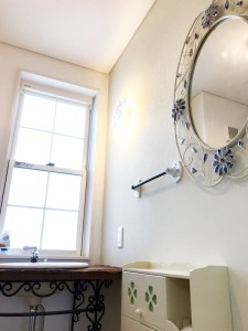 トイレ:こだわりのトイレ。小物にもこだわりました。