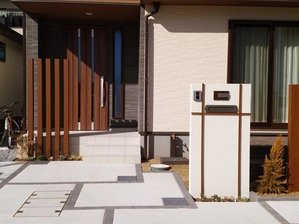 守谷市O様邸、外構工事施工例。