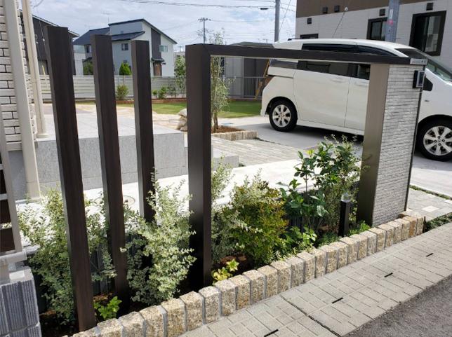 つくばみらい市の外構と庭 施工例 ガーデンルームよしむら